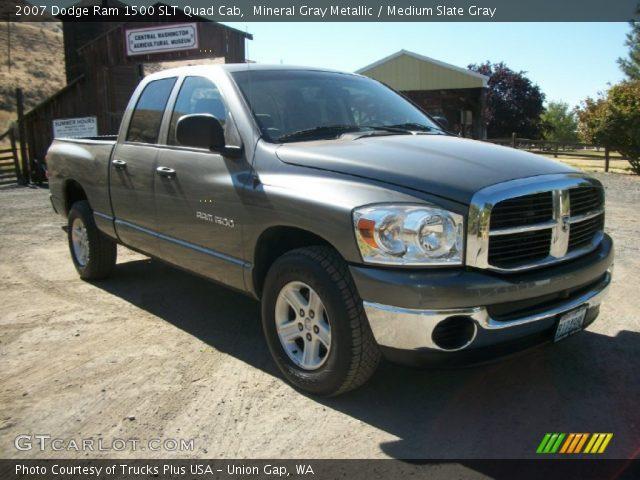 Mineral Gray Metallic 2007 Dodge Ram 1500 Slt Quad Cab Medium Slate Gray Interior Gtcarlot
