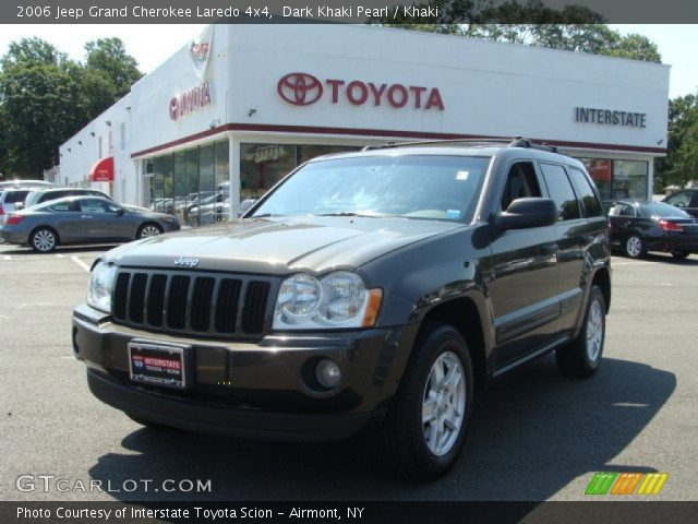 dark khaki pearl 2006 jeep grand cherokee laredo 4x4 khaki interior vehicle. Black Bedroom Furniture Sets. Home Design Ideas