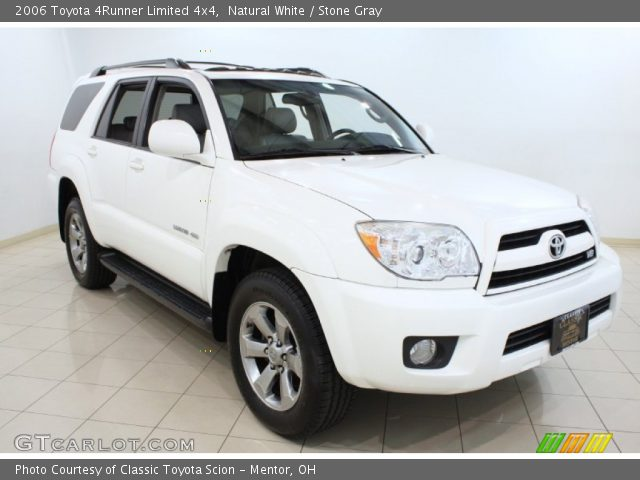 natural white 2006 toyota 4runner limited 4x4 stone gray interior vehicle. Black Bedroom Furniture Sets. Home Design Ideas