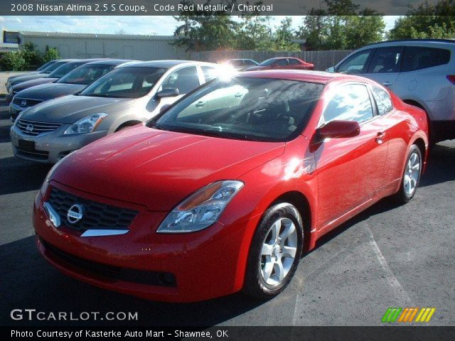 code red metallic 2008 nissan altima 2 5 s coupe charcoal interior vehicle. Black Bedroom Furniture Sets. Home Design Ideas