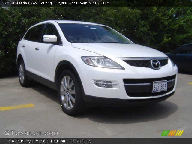 crystal white pearl mica 2009 mazda cx 9 touring sand. Black Bedroom Furniture Sets. Home Design Ideas