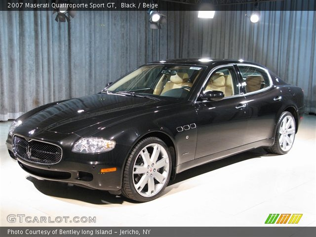 black 2007 maserati quattroporte sport gt beige interior vehicle archive. Black Bedroom Furniture Sets. Home Design Ideas
