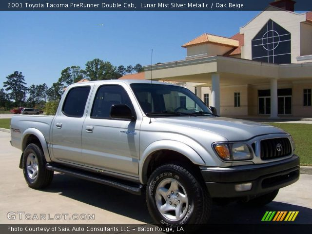 lunar mist silver metallic 2001 toyota tacoma prerunner double cab oak beige interior. Black Bedroom Furniture Sets. Home Design Ideas