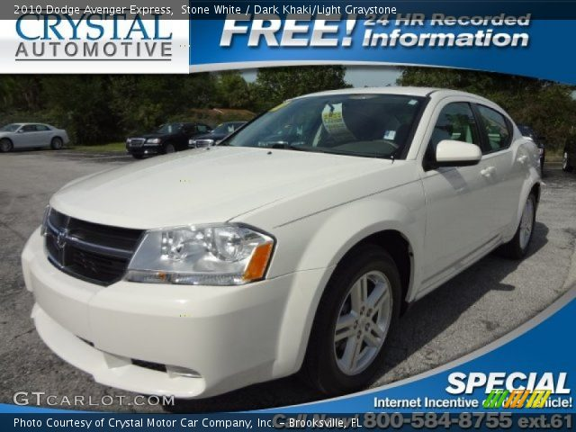 Stone White 2010 Dodge Avenger Express with Dark Khaki/Light Graystone ...