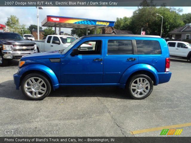 electric blue pearl 2007 dodge nitro r t 4x4 dark slate gray interior. Black Bedroom Furniture Sets. Home Design Ideas