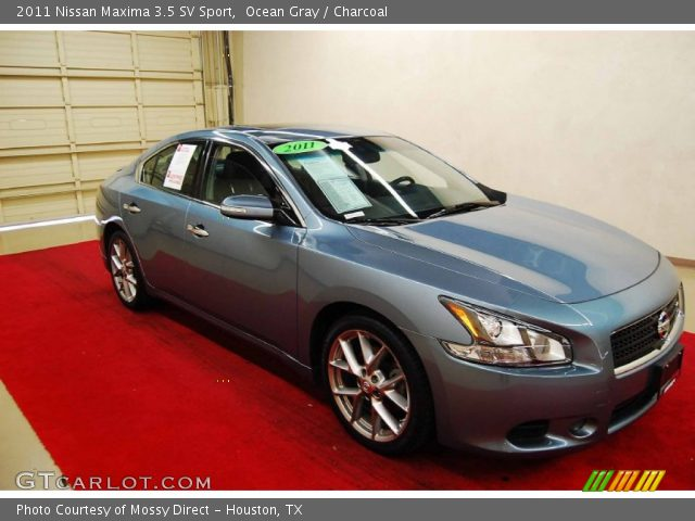 ocean gray 2011 nissan maxima 3 5 sv sport charcoal interior vehicle. Black Bedroom Furniture Sets. Home Design Ideas