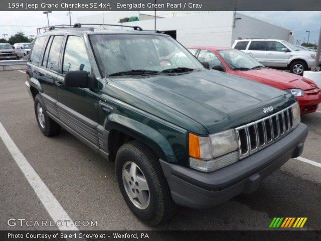 everglade green pearl 1994 jeep grand cherokee se 4x4 gray interior vehicle. Black Bedroom Furniture Sets. Home Design Ideas