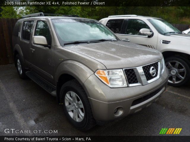 polished pewter 2005 nissan pathfinder xe 4x4 desert. Black Bedroom Furniture Sets. Home Design Ideas