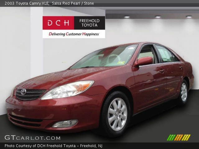salsa red pearl 2003 toyota camry xle stone interior gtcarlot com vehicle archive 70352874 gtcarlot com