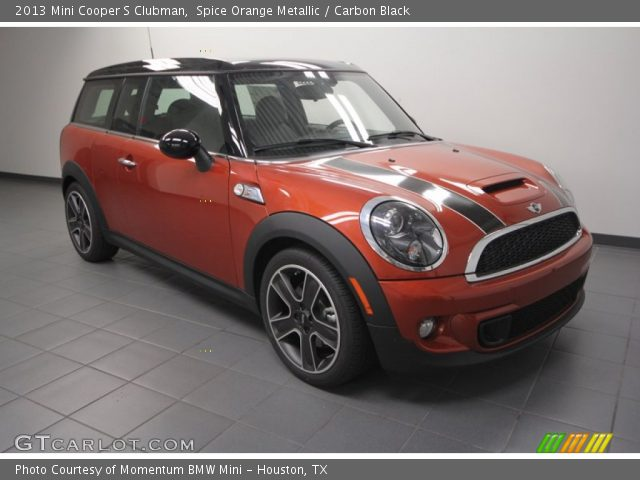 spice orange metallic 2013 mini cooper s clubman carbon black interior. Black Bedroom Furniture Sets. Home Design Ideas
