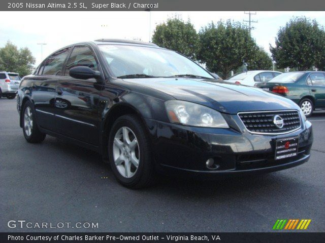 super black 2005 nissan altima 2 5 sl charcoal interior vehicle archive. Black Bedroom Furniture Sets. Home Design Ideas
