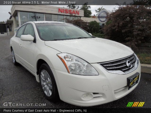 Winter Frost White 2010 Nissan Altima 2 5 S Frost Interior Vehicle Archive