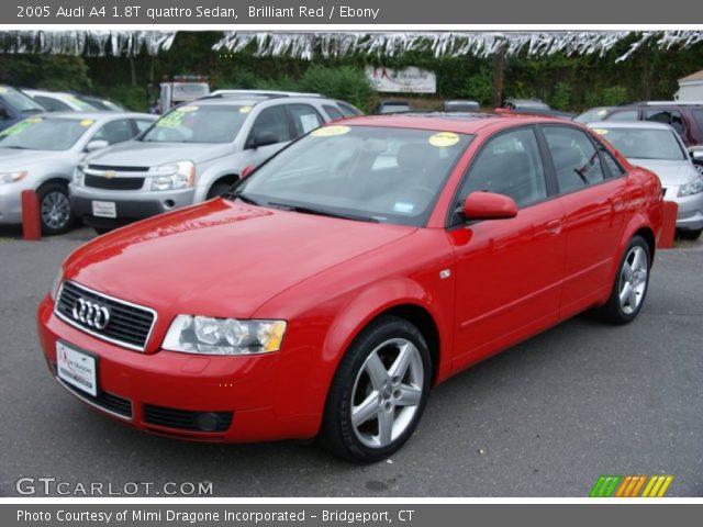 brilliant red 2005 audi a4 1 8t quattro sedan ebony interior vehicle. Black Bedroom Furniture Sets. Home Design Ideas