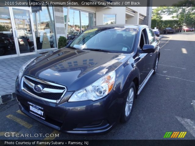 graphite gray metallic 2010 subaru legacy premium sedan off black interior gtcarlot. Black Bedroom Furniture Sets. Home Design Ideas