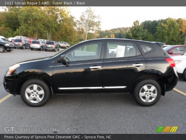 Super black 2012 nissan rogue s awd black interior - 2012 nissan rogue exterior colors ...