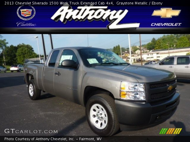 2013 Chevrolet Silverado 1500 Work Truck Extended Cab 4x4 in Graystone Metallic