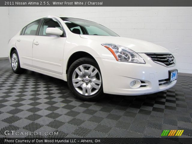 winter frost white 2011 nissan altima 2 5 s charcoal interior vehicle. Black Bedroom Furniture Sets. Home Design Ideas