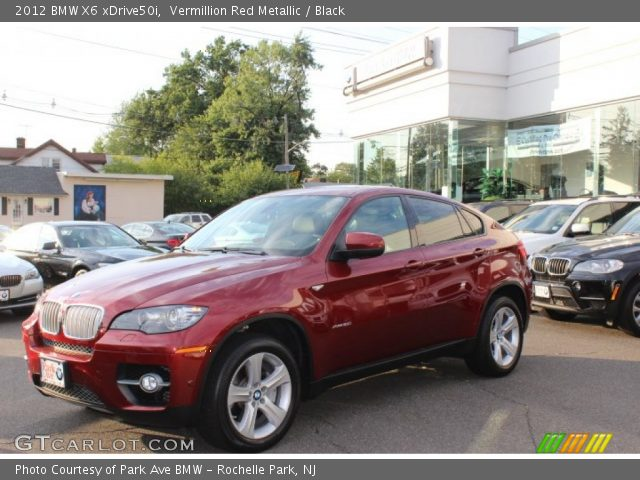 vermillion red metallic 2012 bmw x6 xdrive50i black. Black Bedroom Furniture Sets. Home Design Ideas