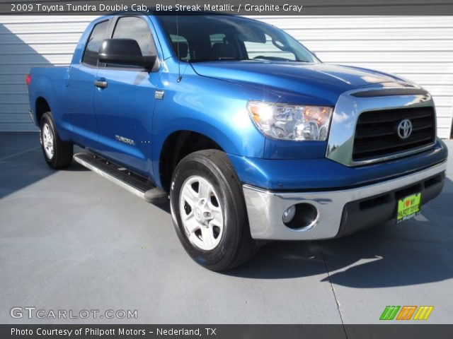 blue streak metallic 2009 toyota tundra double cab graphite gray interior. Black Bedroom Furniture Sets. Home Design Ideas