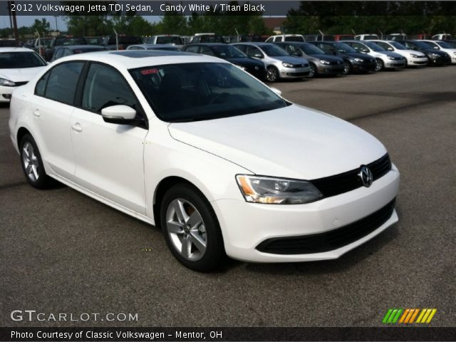 candy white 2012 volkswagen jetta tdi sedan titan black interior vehicle. Black Bedroom Furniture Sets. Home Design Ideas