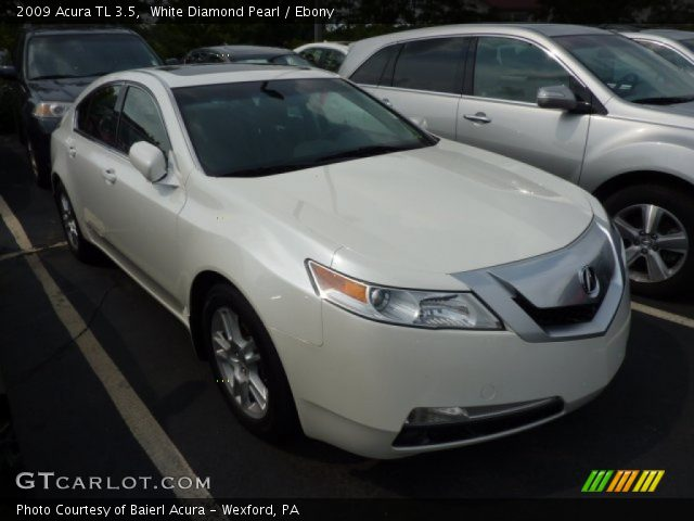 white diamond pearl 2009 acura tl 3 5 ebony interior. Black Bedroom Furniture Sets. Home Design Ideas