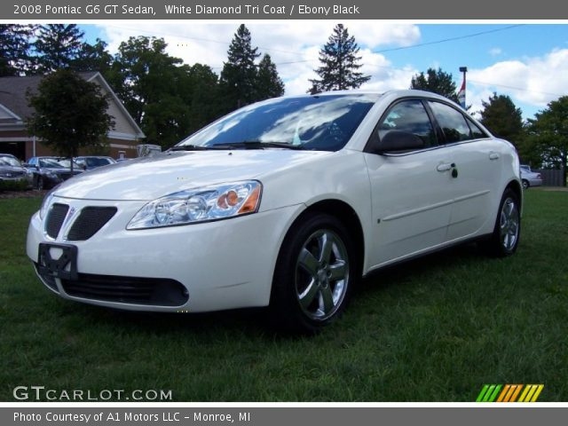 2008 Pontiac G6 GT Sedan in White Diamond Tri Coat. Click to see large ...