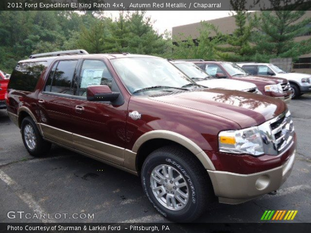 autumn red metallic 2012 ford expedition el king ranch 4x4 chaparral interior. Black Bedroom Furniture Sets. Home Design Ideas