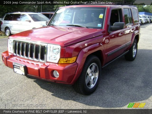 inferno red crystal pearl 2009 jeep commander sport 4x4. Black Bedroom Furniture Sets. Home Design Ideas