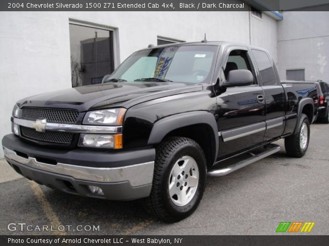 black 2004 chevrolet silverado 1500 z71 extended cab 4x4. Black Bedroom Furniture Sets. Home Design Ideas