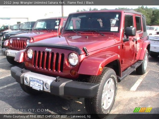Flame red 2012 jeep wrangler unlimited sahara 4x4 - 2012 jeep wrangler unlimited interior ...