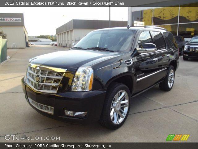 2013 Cadillac Escalade Platinum in Black Raven
