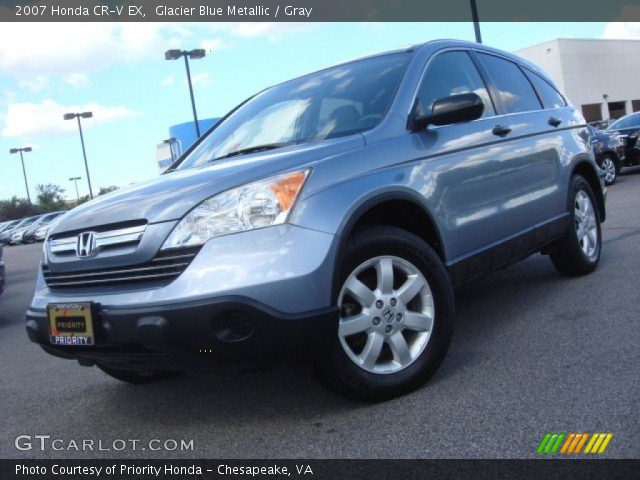 glacier blue metallic 2007 honda cr v ex gray interior vehicle archive. Black Bedroom Furniture Sets. Home Design Ideas