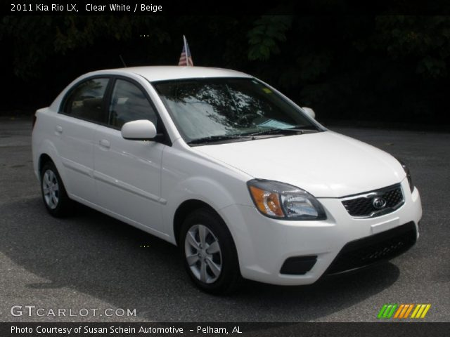 clear white 2011 kia rio lx beige interior gtcarlot. Black Bedroom Furniture Sets. Home Design Ideas