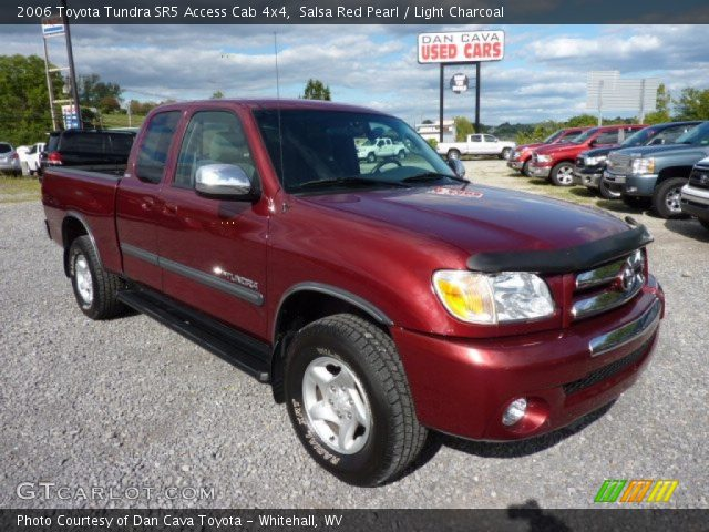 salsa red pearl 2006 toyota tundra sr5 access cab 4x4 light charcoal interior. Black Bedroom Furniture Sets. Home Design Ideas