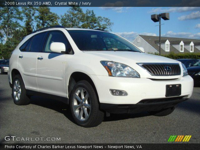 crystal white 2008 lexus rx 350 awd ivory interior vehicle archive 70617674. Black Bedroom Furniture Sets. Home Design Ideas