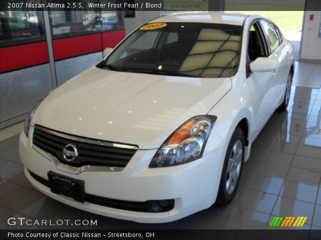 winter frost pearl 2007 nissan altima 2 5 s blond interior vehicle archive. Black Bedroom Furniture Sets. Home Design Ideas