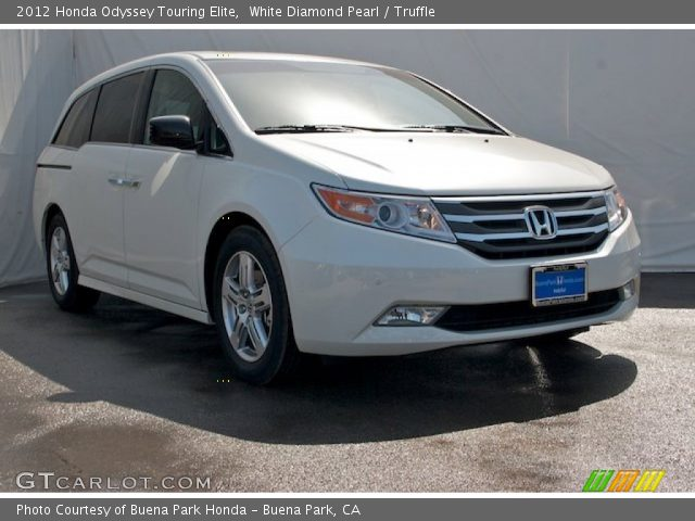 white diamond pearl 2012 honda odyssey touring elite truffle interior. Black Bedroom Furniture Sets. Home Design Ideas
