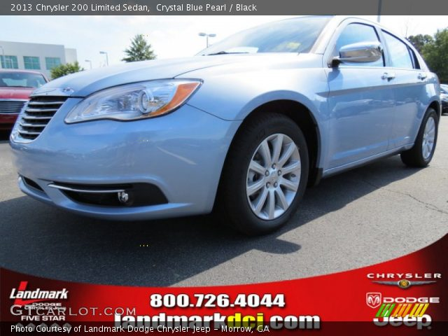 crystal blue pearl 2013 chrysler 200 limited sedan. Black Bedroom Furniture Sets. Home Design Ideas