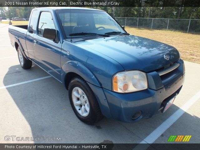 electric blue metallic 2001 nissan frontier xe king cab gray interior. Black Bedroom Furniture Sets. Home Design Ideas