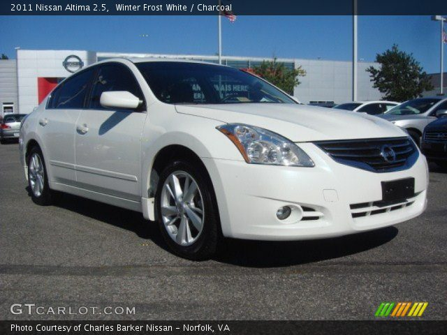 2011 Nissan Altima 2.5 in Winter Frost White. Click to see large photo ...