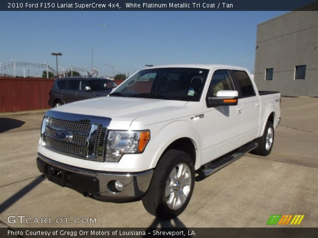 2010 Ford F150 Lariat SuperCrew 4x4 in White Platinum Metallic Tri Coat