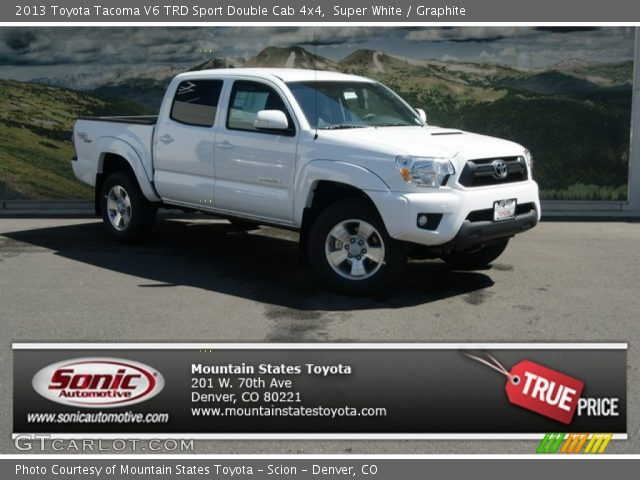 2013 Toyota Tacoma V6 TRD Sport Double Cab 4x4 in Super White