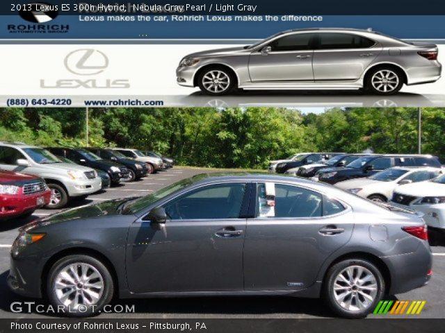 nebula gray pearl 2013 lexus es 300h hybrid light gray interior vehicle. Black Bedroom Furniture Sets. Home Design Ideas