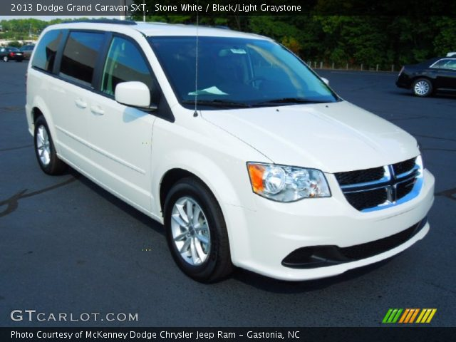 stone white 2013 dodge grand caravan sxt black light graystone interior. Black Bedroom Furniture Sets. Home Design Ideas