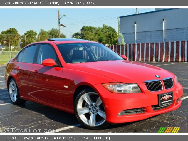 electric red 2006 bmw 3 series 325i sedan black. Black Bedroom Furniture Sets. Home Design Ideas