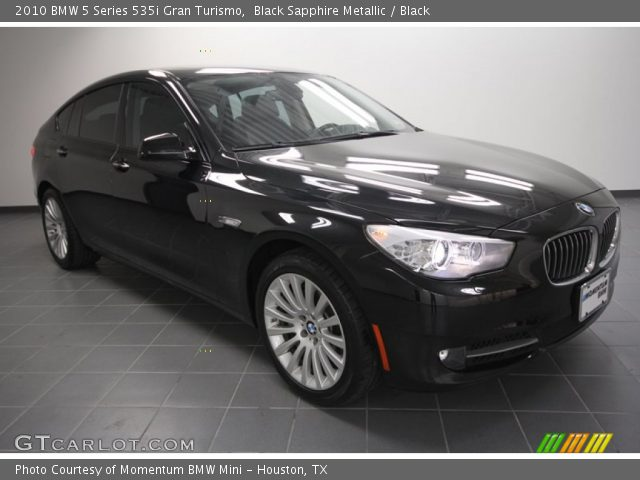 black sapphire metallic 2010 bmw 5 series 535i gran. Black Bedroom Furniture Sets. Home Design Ideas