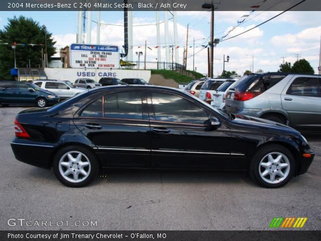 black 2004 mercedes benz c 240 4matic sedan ash grey interior vehicle. Black Bedroom Furniture Sets. Home Design Ideas