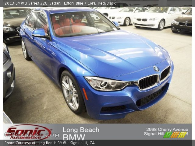 2014 Bmw 328i Estoril Blue With Coral Red Interior For