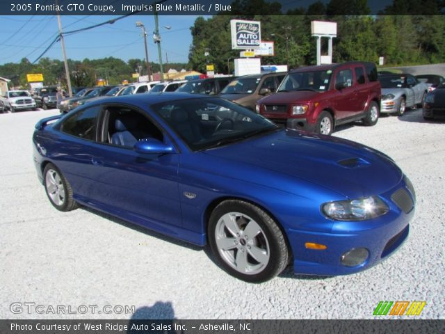 2005 Pontiac GTO Coupe in Impulse Blue Metallic