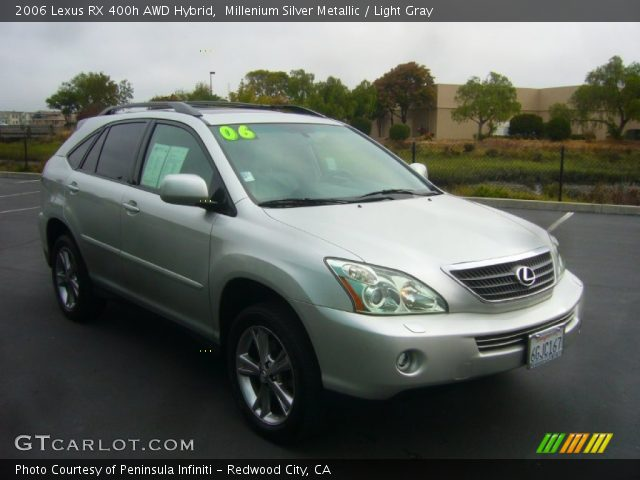 millenium silver metallic 2006 lexus rx 400h awd hybrid. Black Bedroom Furniture Sets. Home Design Ideas